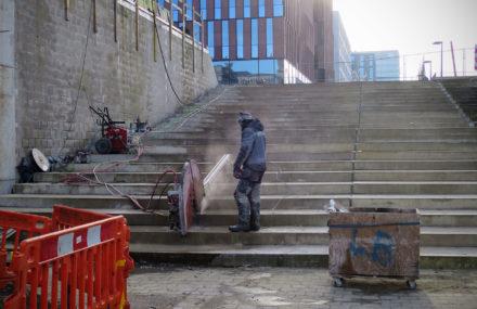 Début des travaux de la « Spirale cycliste » à Louvain