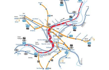 Liège: études d'aménagements d'infrastructures routières sur différents axes structurants