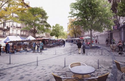 Brussels – start of the redevelopment project of the parvis Sint-Giles