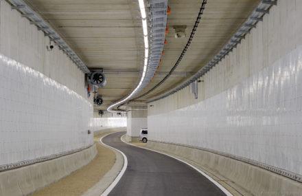 Tunnel entre le boulevard d'Avroy et le quai de Rome à Liège