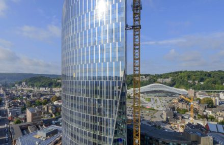 Inauguration de la Tour des Finances  de Liège