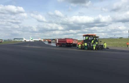 Achèvement des travaux des bretelles de l'aéroport de Liège