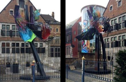 Inauguration de la sculpture 'Natural Chaos' à Liège