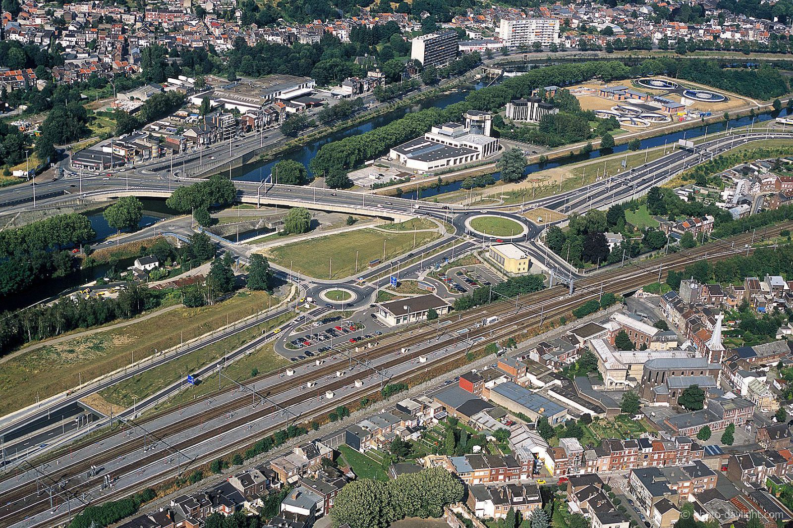 Tunnel en verkeerswisselaar Grosses Battes in Luik