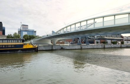 Picard bridge will overhang the canal