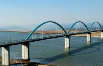 Rio Sado railway viaduct near Lisbon