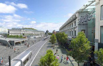 Création d'une ligne de tram à Liège