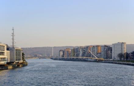 Liège: la passerelle fraîchement inaugurée tangue fortement, les concepteurs rassurent