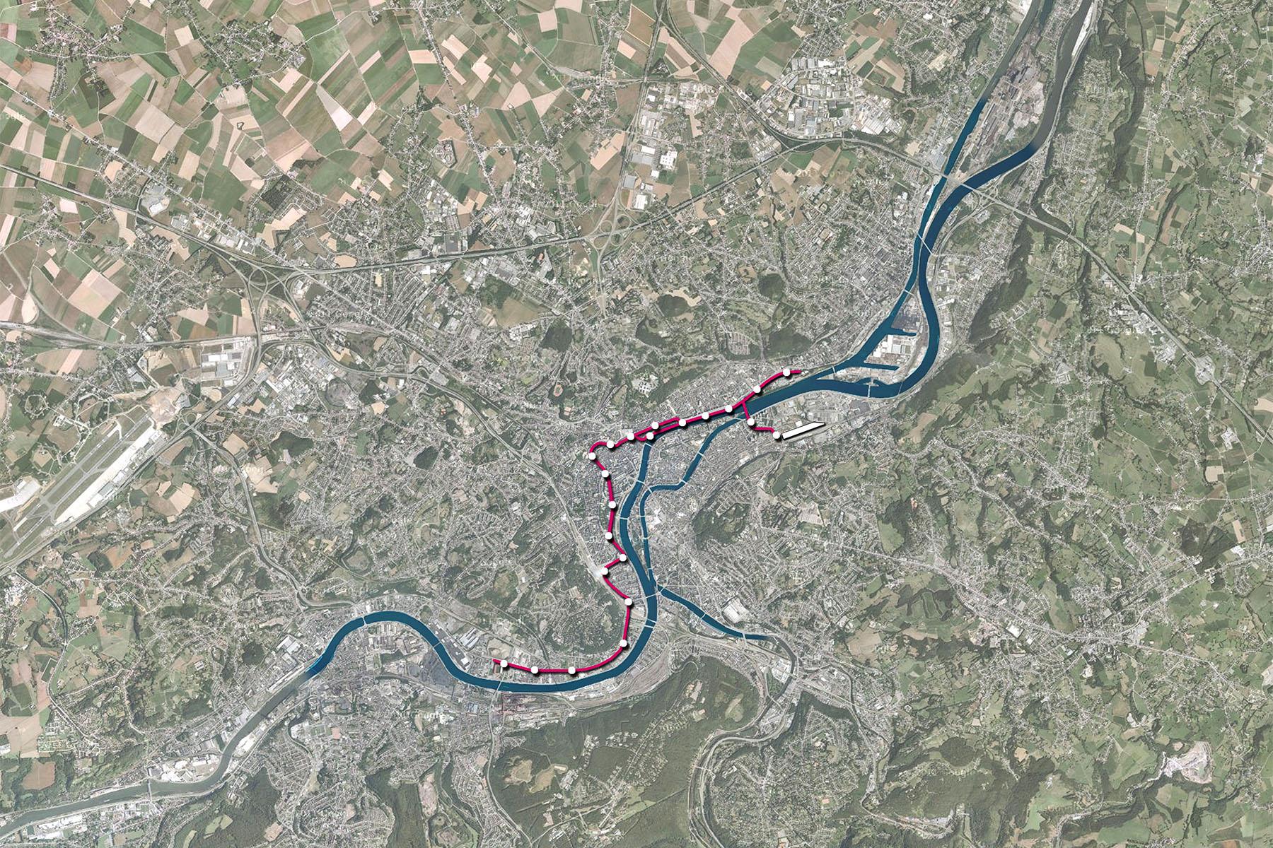 Bureau Greisch Creation of a tramline in Lige