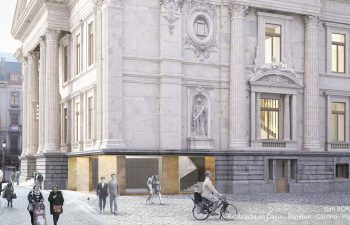 "Transformation of the Brussels stock exchange into the ""Belgian beer palace"""