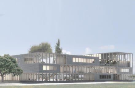 Nouveau bâtiment basse énergie à l'hôpital MontLégia