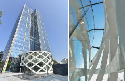 A new entry volume for the Blue Tower in Brussels