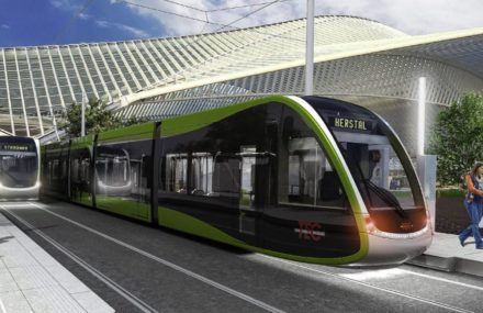 The light goes green for the Liege tram