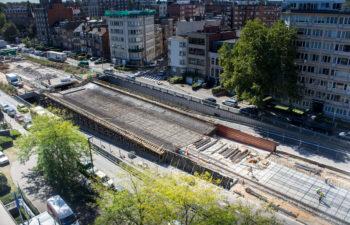 Reconstruction des rampes d'accès au carrefour Reyers à Bruxelles