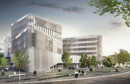 Brussels – construction of the administrative centre of Etterbeek to house the city offices, the social services and the police station