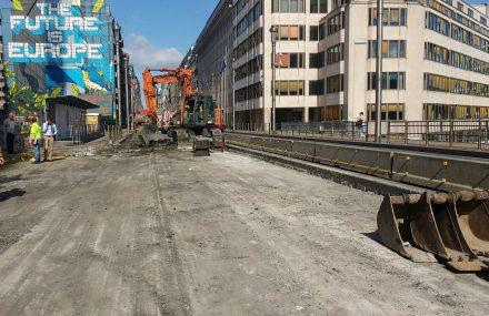 Bruxelles – restauratie van de brug onder de Wetstraat