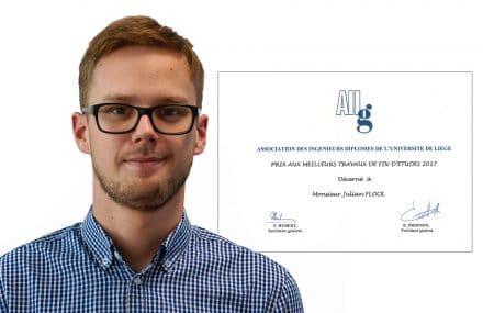 Julian Flock récompensé pour son travail de fin d'études