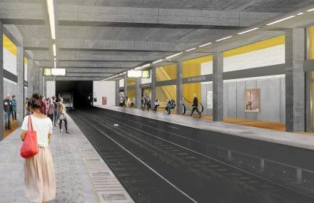 Bruxelles : démarrage des travaux de réaménagement de la station de Brouckère