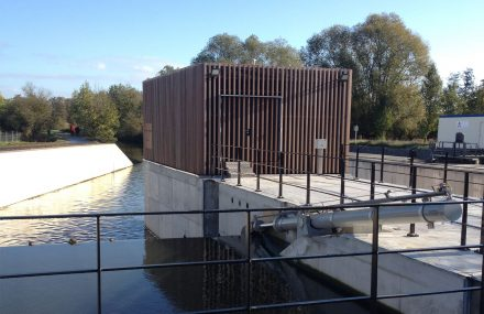 Deux-Acren – completion of works on the new sluices on the Dendre River