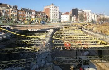 Renforcement des tunnels Reyers, de la station Diamant et rétrécissement des trémies des tunnels