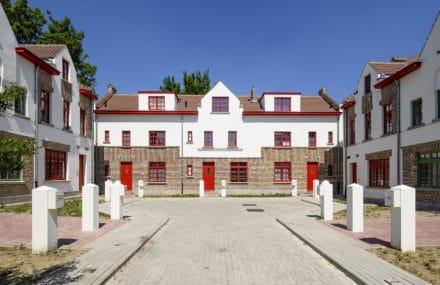 Fin des travaux de rénovation de la Cité Jardin « Paroisse » à Haren