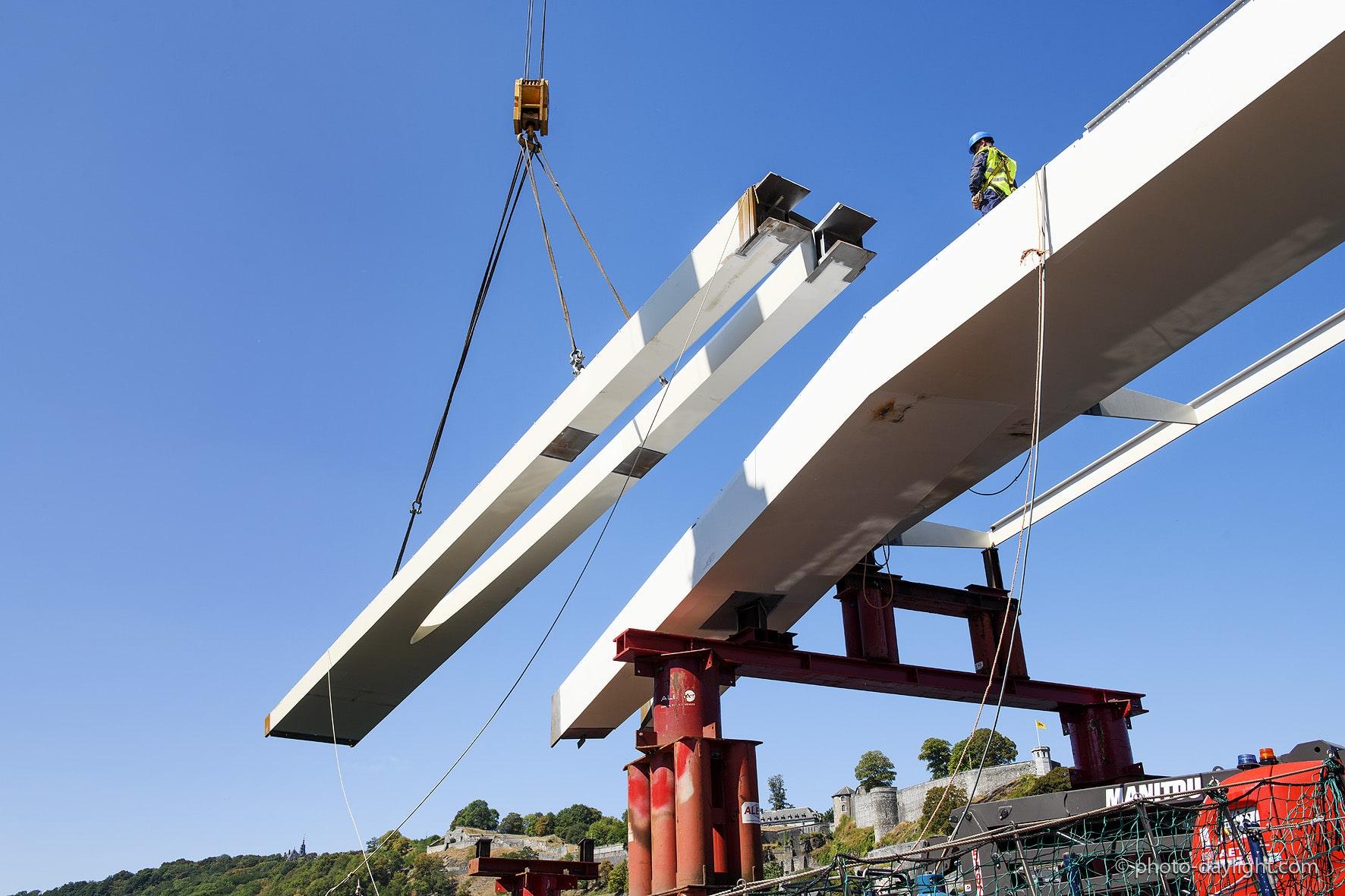 Bureau greisch namur prepares to welcome the enjambée footbridge