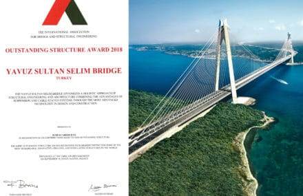 Le pont Yavuz Sultan Selim remporte l'IABSE Outstanding Structure Award 2018 !