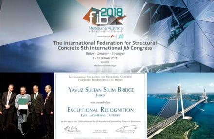 FIB Awards : Reconnaissance exceptionnelle pour le 3è pont sur le Bosphore