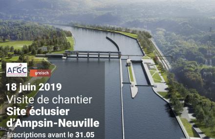 Invitation : visite de chantier de l'écluse d'Ampsin-Neuville