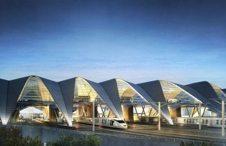 Rail Baltica Central Station-project in Riga