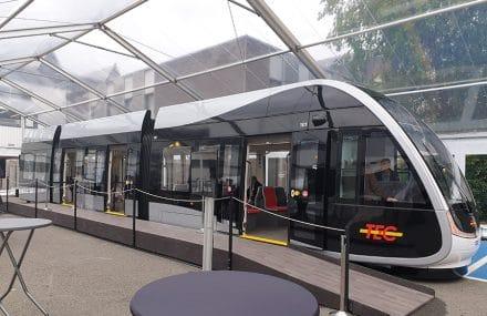 Maquette grandeur nature du tram de Liège