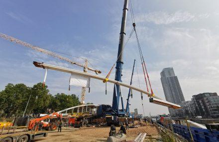 Nouvelle étape pour le pont Suzan Daniel avec la pose de la charpente métallique