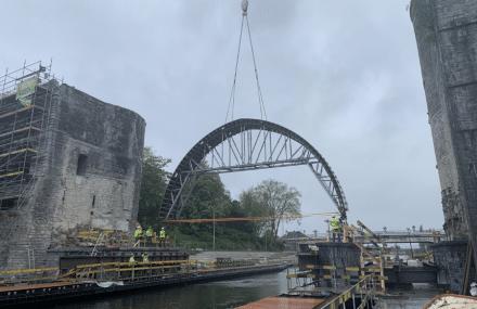 Nouvelles avancées dans le chantier du Pont des Trous, à Tournai