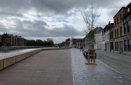 Inauguration de la nouvelle halte nautique du quai Taille-Pierre, à Tournai